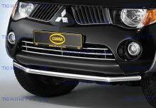 Решетка в бампер, Cobra, нерж. сталь, а/м 2006-2009
