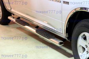 Боковые подножки Winbo, трубы овальной формы с проступями, нерж. сталь, для QUAD CAB