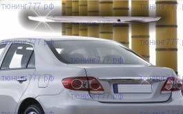 Накладка на крышку багажника, OmsaLine, нерж. сталь, а/м с 2011-