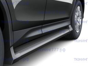 Боковые подножки, cnt4x4, черные с пластиковыми накладками, к-кт на 2013-11/2015