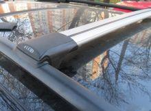 Багажник на рейлинги, FicoPro, аэродуги, 2 цвета