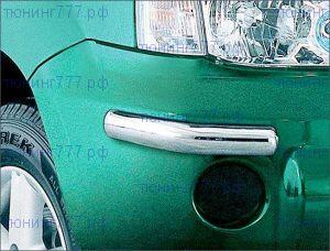 Защита переднего бампера Antec, уголки, нерж. сталь