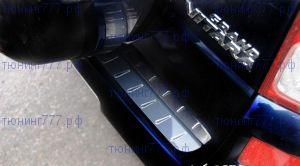 Накладка на задний бампер, Alufrost, с вставками, нерж. сталь