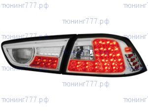 Фонари задние LED, светодиодные, Dectane, хром